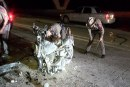 I-45 FATAL CRASH-MOTORCYCLE BURSTS INTO FLAMES AS IT STRIKES SUV