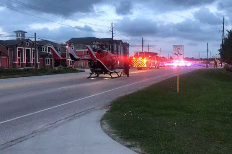 AUTO PEDESTRIAN -LIFE FLIGHT