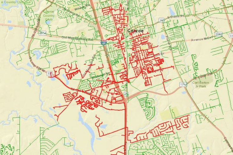 MAJOR POWER OUTAGE IN CONROE