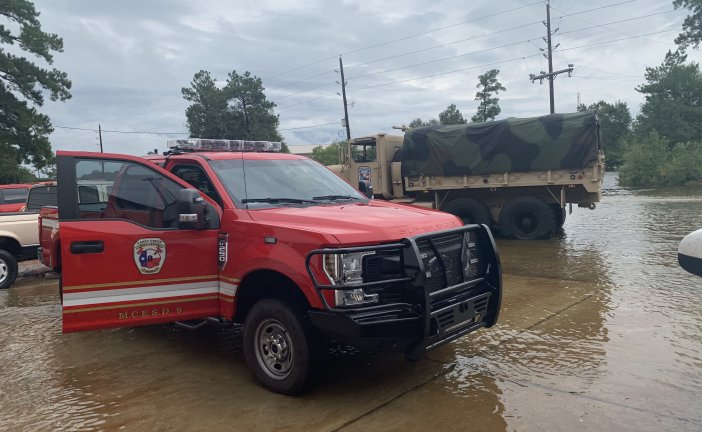 FIRE STATION DESTROYED BY FLOOD