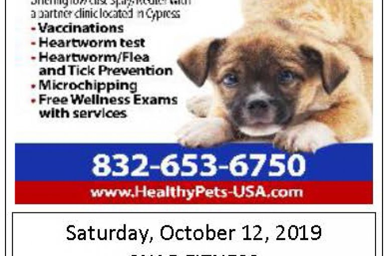 LOW COST PET SERVICES THIS WEEKEND IN NEW CANEY