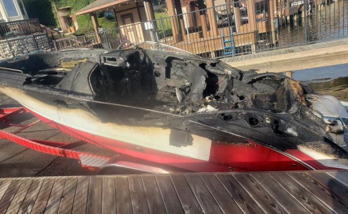 NO INJURIES AFTER BOAT ERUPTS IN FLAMES ON LAKE CONROE