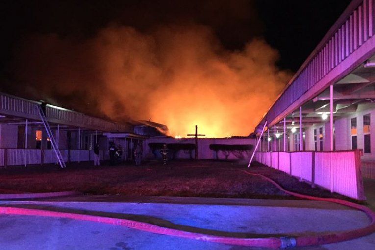 FIREFIGHTERS BATTLE REHAB FIRE OVERNIGHT IN MADISONVILLE