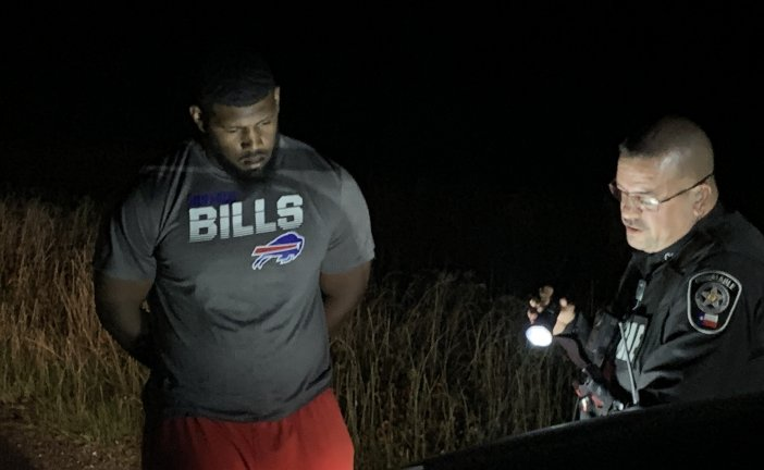 BUFFALO BILLS  DEFENSIVE TACKLE BUSTED FOR DWI BY MONTGOMERY COUNTY