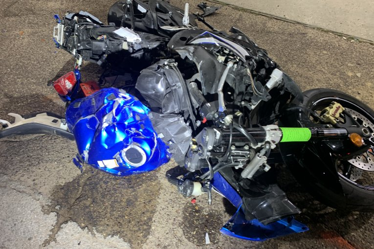 MOTORCYCLE DRIVER HIT BY HIT AND RUN DRIVER DIES