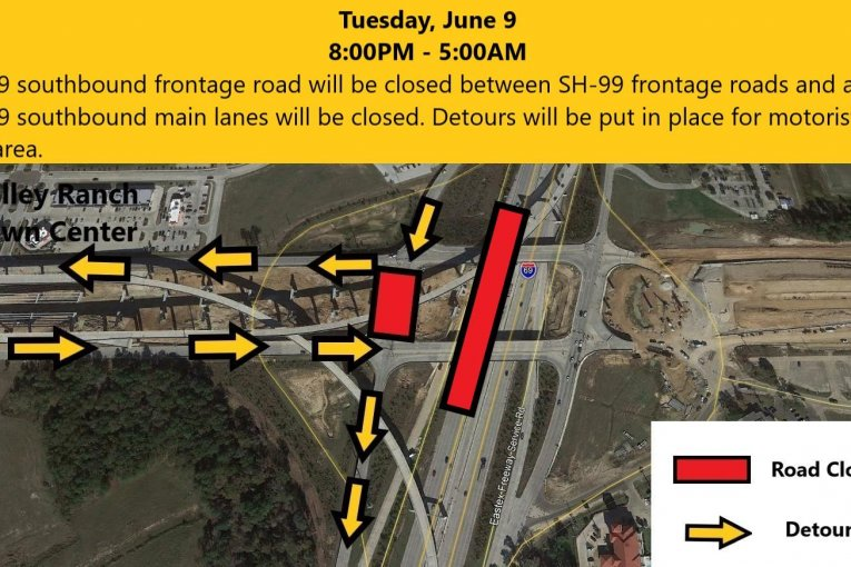 Closure of IH-69 Southbound Lanes & Frontage Road