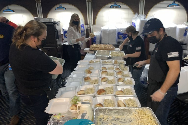 JOE'S ITALIAN TOPS THE 50,000 FREE MEAL MARK AFTER TODAYS 5000 MEALS