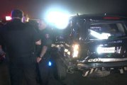 SEVERAL OFFICERS AND SUSPECT INJURED AFTER IMPAIRED TESLA DRIVER SLAMS INTO THEM