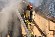 PATTON VILLAGE HOME DESTROYED BY FIRE-ONE INJURED - PUPPIES LOST