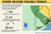 Severe Weather Potential Tonight into Wednesday Morning