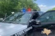 TROOPER SERIOUS BUT STABLE CONDITION-EYE SIGHT COMPROMISED