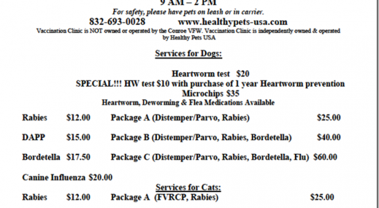 DISCOUNT PET SERVICES IN CONROE ON VALENTINES DAY