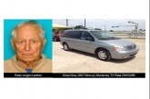 MISSING SENIOR ALERT ISSUED BY THE TEXAS SILVER ALERT NETWORK