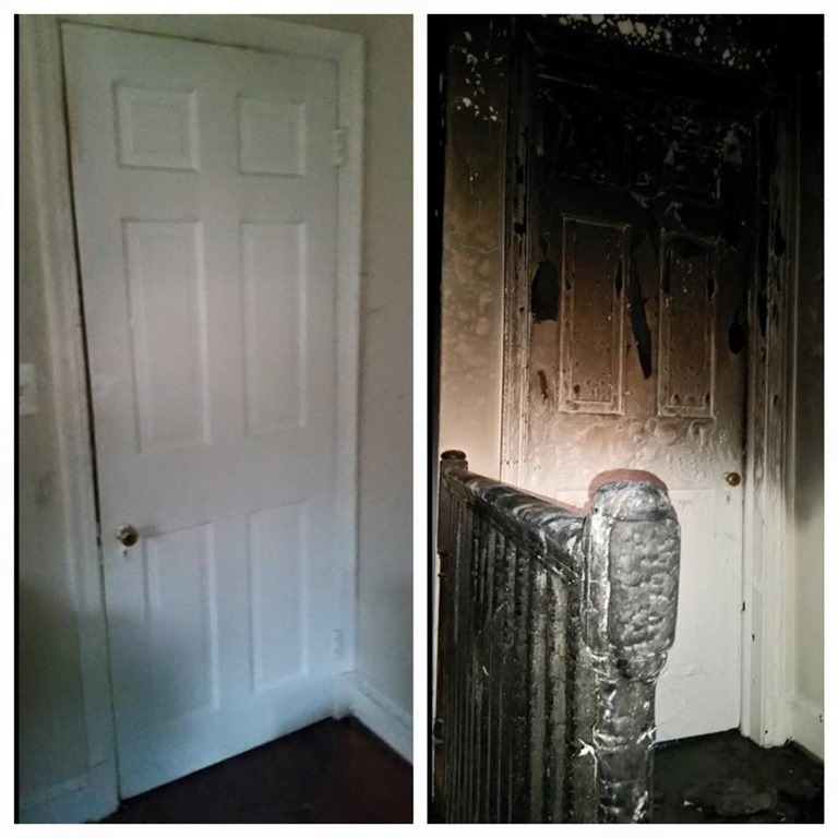 Close Door On Fire : Officials say children survived woodlands fire due to
