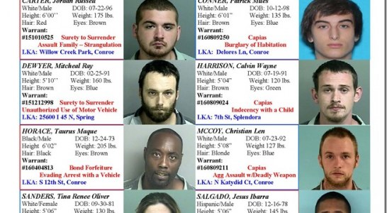 MONTGOMERY COUNTY MOST WANTED FOR WEEK ENDING 8/19/16
