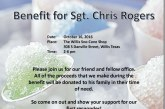 BENEFIT FOR SGT. CHRIS ROGERS