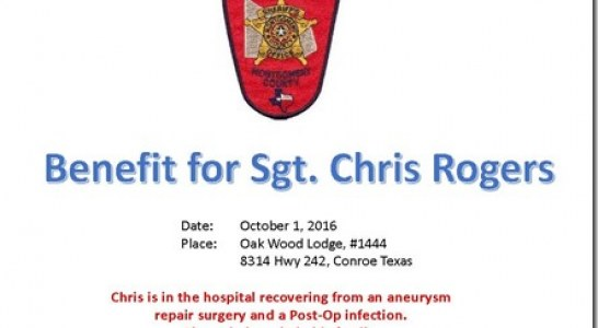 BENEFIT THIS SATURDAY FOR MCSO SGT.