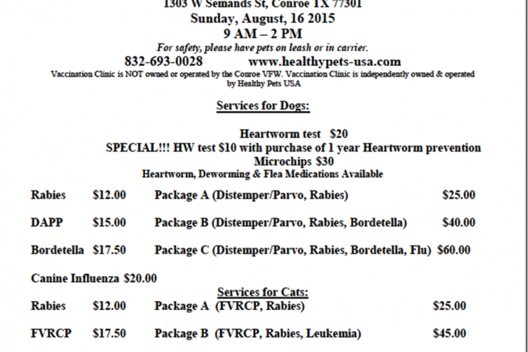 DISCOUNT PET SERVICES TODAY IN CONROE