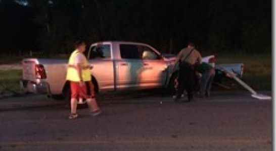 DRIVER ESCAPES SERIOUS INJURY IN FM 1485 CRASH