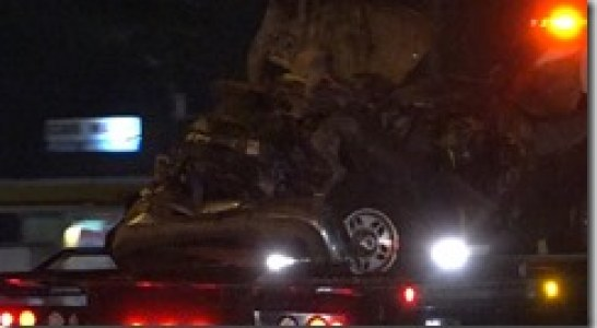 FATAL CRASH AND FIRE CLOSES I-45 FOR 5 HOURS