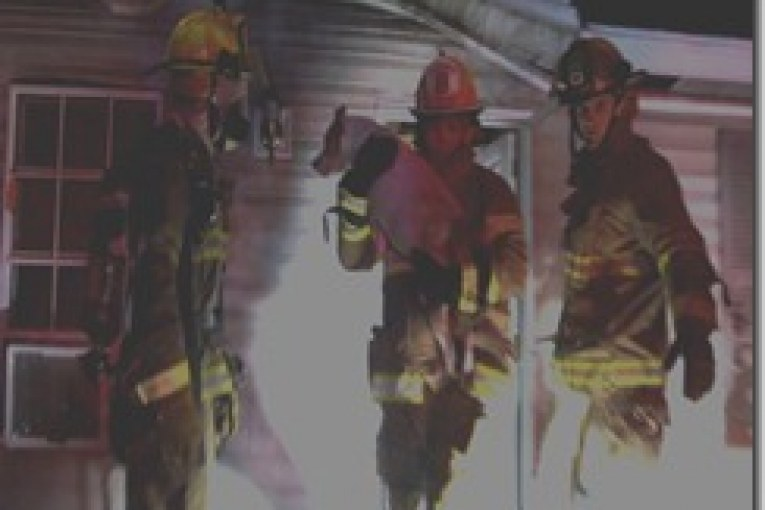 FIREFIGHTERS RESCUE DOG FROM BURNING MOBILE HOME