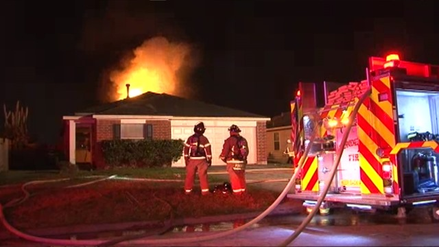 Firefighters Fight Attic Fire