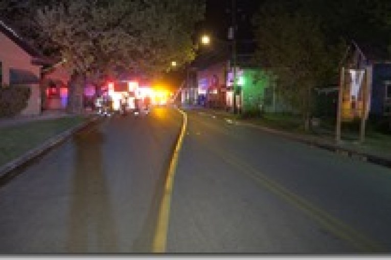 FIREFIGHTERS SAVE OLD TOWN SPRING LANDMARK
