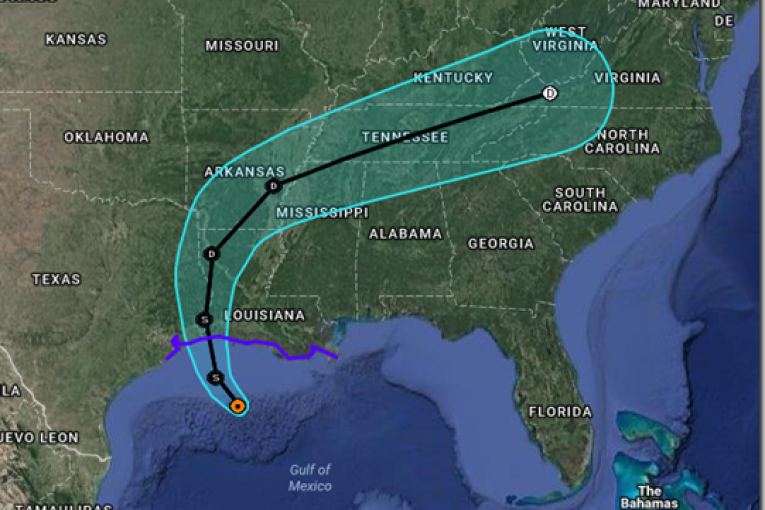Information about the forecast cone from the National Hurricane Center: