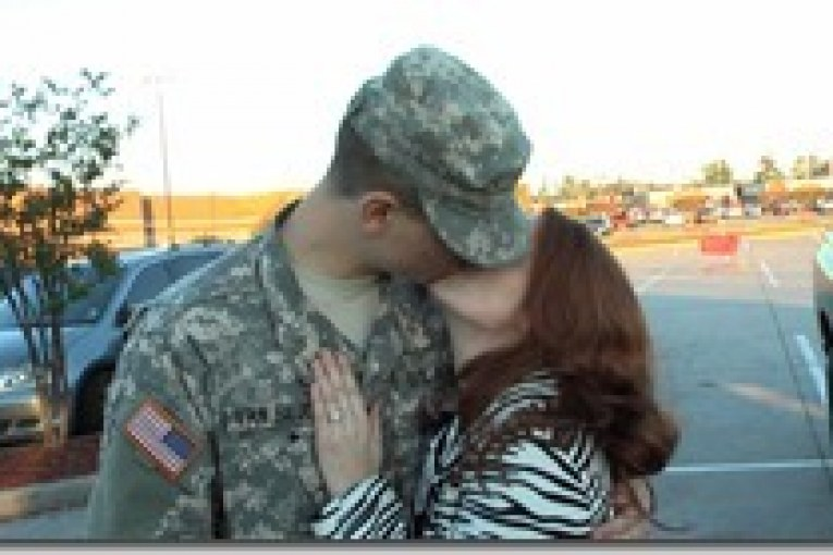 SOLDIER RIDES 22 HOURS TO PROPOSE TO GIRLFRIEND