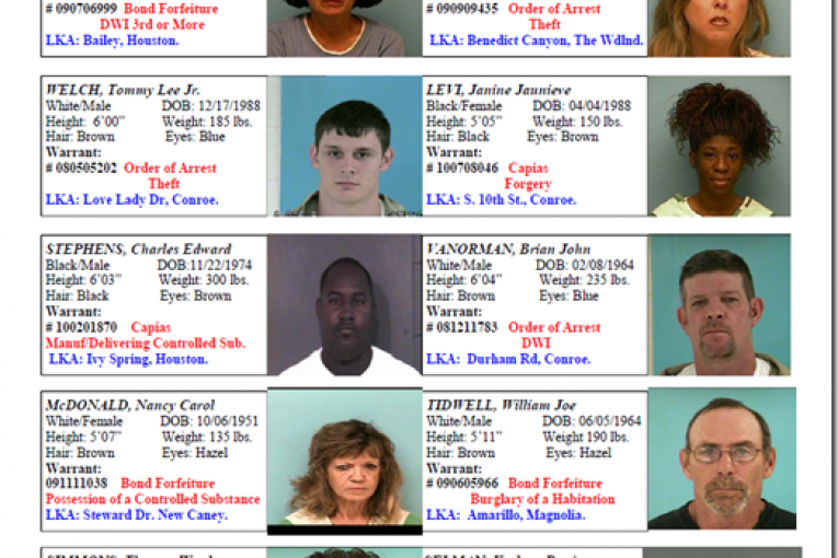 MONTGOMERY COUNTY CRIMESTOPPERS FEATURED FUGITIVES FOR THE WEEK OF 08/13/10