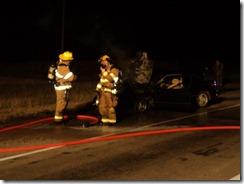 LOANER CAR BURSTS INTO FLAMES
