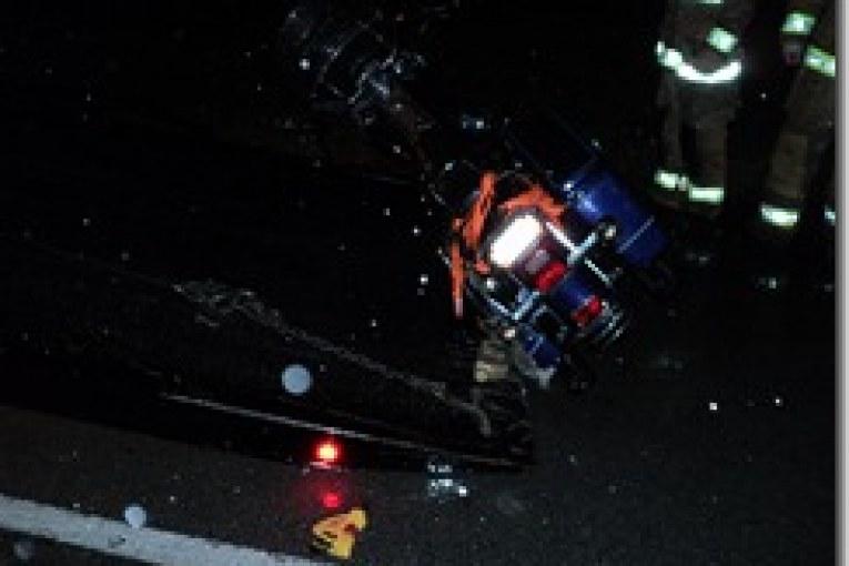 MOTORCYCLE CRASH SERIOUSLY INJURES TWO