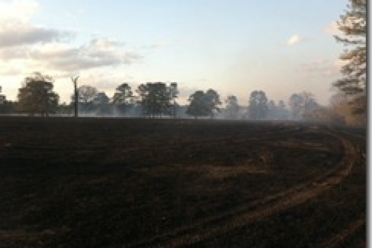 50-75 ACRE GRASS FIRE BURNS HOME AND BRINGS ALMOST 10 FIRE DEPARTMENTS