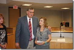 At Monday's Montgomery County Commissioners Court, Jerry Sue Hayden of the Pct. 4 Office of Justice of the Peace James Metts was named employee of the month for January.