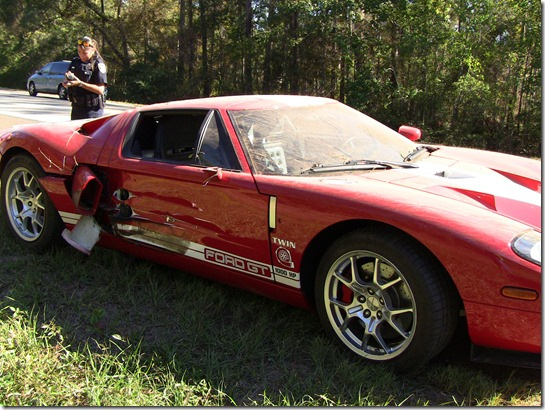 MUSTANG GT INVOLVED IN CRASH