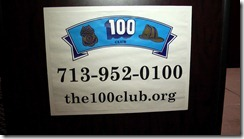 100 CLUB OF GREATER HOUSTON HONORS SEVERAL FROM MONTGOMERY COUNTY AREA