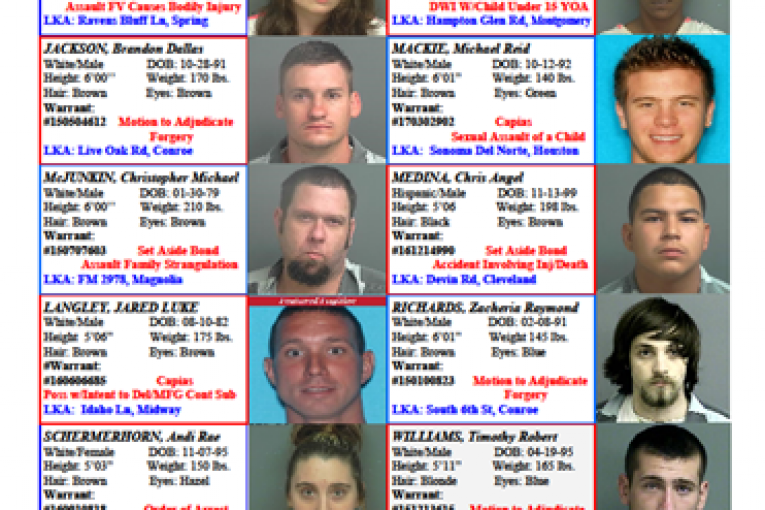 CRIME STOPPERS FEATURED FELONS 3.10.17
