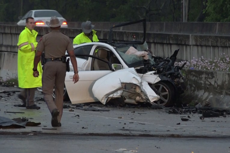 THREE DEAD IN WRONG WAY DRIVER CRASH