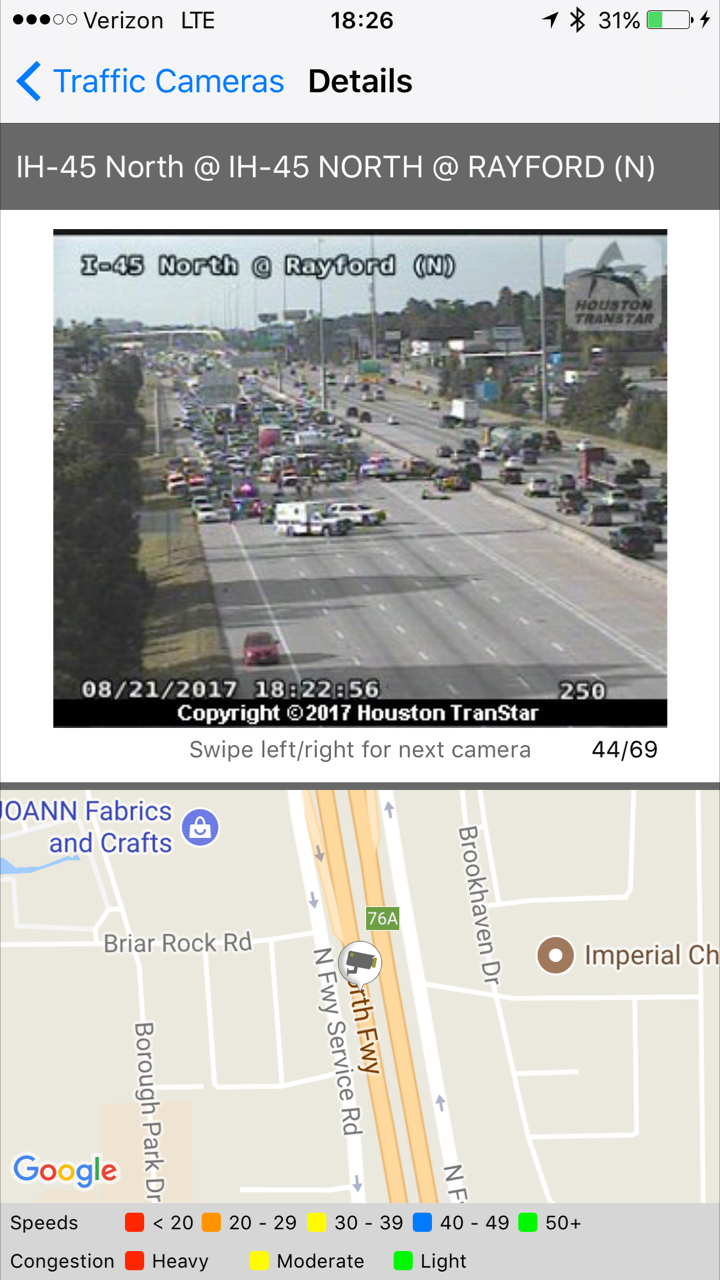 CRASH CLOSES I-45 | Montgomery County Police Reporter
