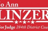 Interim District Attorney Jo Ann 'Jo' Linzer Announces Candidacy for Open Bench, Judge 284th