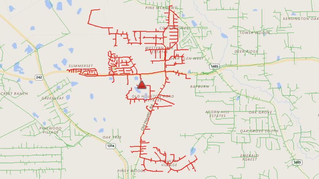 ENTERGY: THOUSANDS WITHOUT POWER – Montgomery County Police