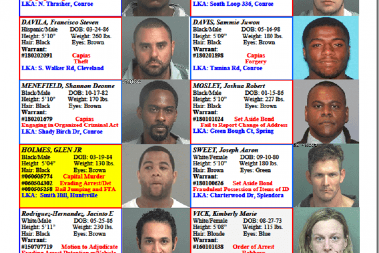 Crime Stoppers Featured Felons 03.02.18