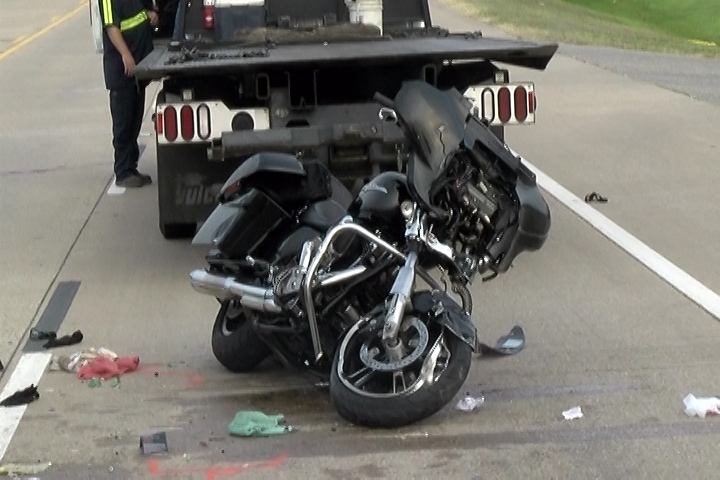 CRASH FATAL ON SH 105 WEST AFTER MOTORCYCLE SLAMS INTO