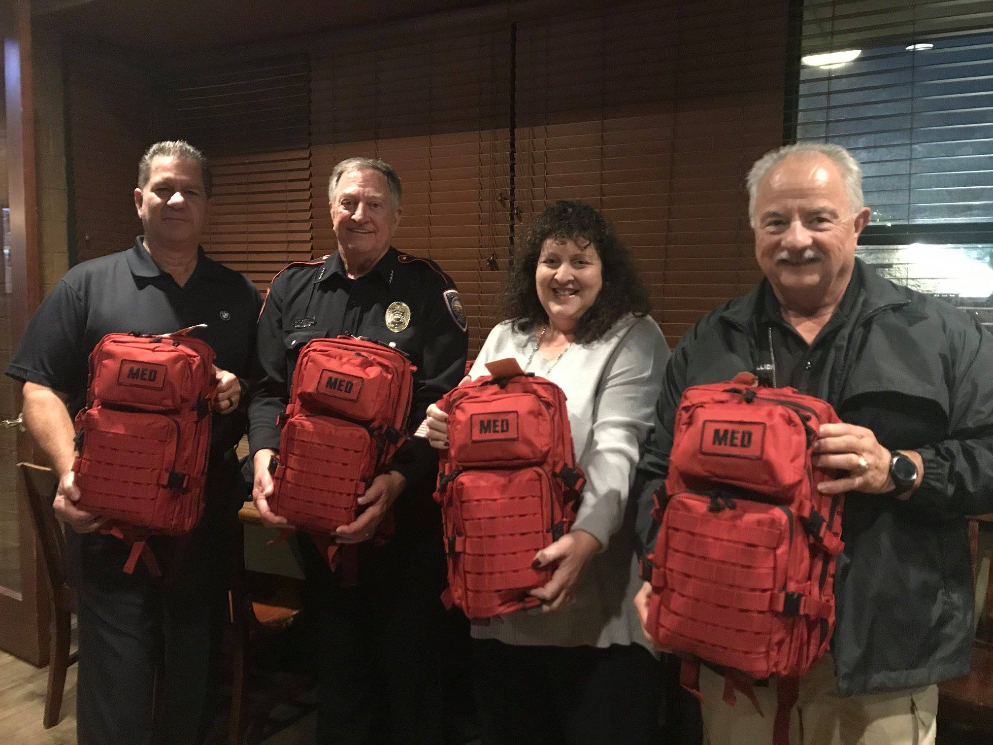 TOMBALL POLICE RECEIVE NEW EMS TRAUMA BAGS – Montgomery