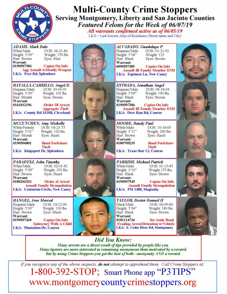 Crime Stoppers Featured Felons 06.07.19