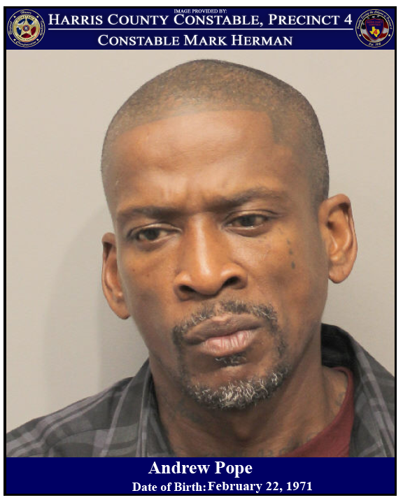 CONSTABLES ARREST SUSPECT FOR FELONY THEFT AT A LOCAL HOME