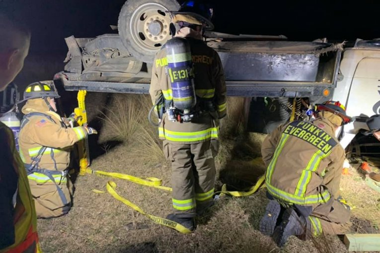 FIREFIGHTERS ATTENDING DEPUTY PFLUGER MEMORIAL PULLED AWAY FOR CRASH