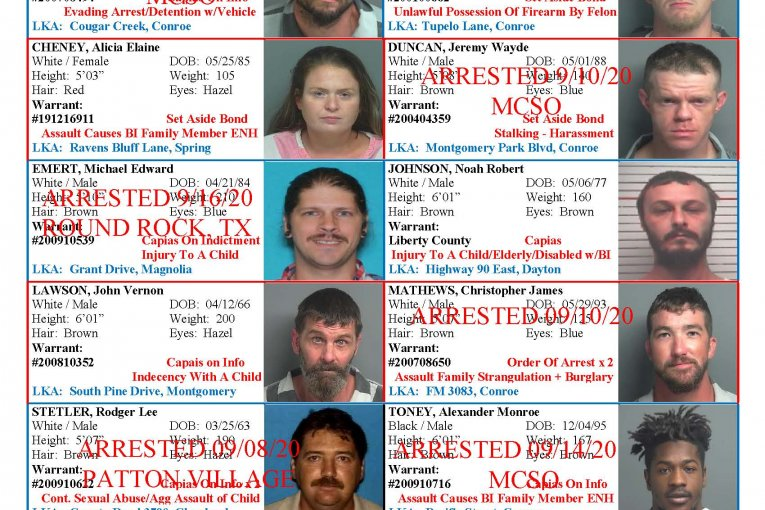 MONTGOMERY COUNTY MOST WANTED-STILL A FEW ON THE LOOSE