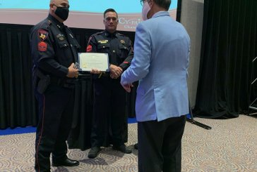SERGEANT ROGER WOLSEY RECEIVES THE FIRST RESPONDER OF THE MONTH AWARD