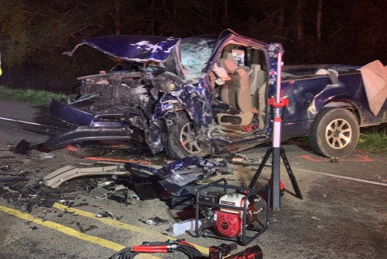 HEAD-ON CRASH SENDS ONE TO HOSPITAL BY PHI AIR MEDICAL